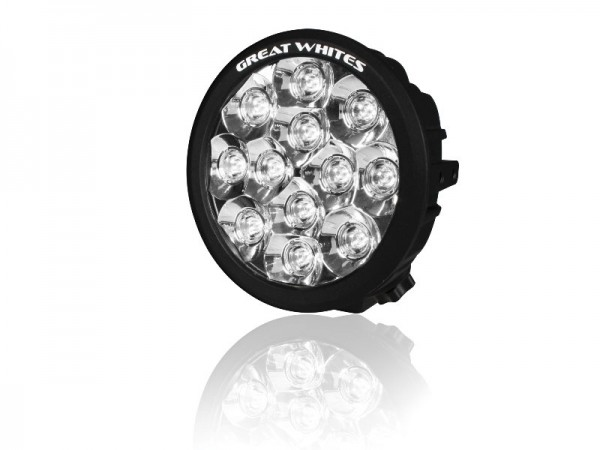 Great White - 12 LED Round Driving Light - Single light