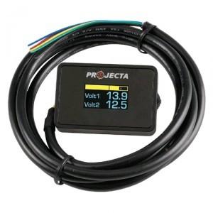 Projecta DBM100 - 12V Dual Battery Volt Meter