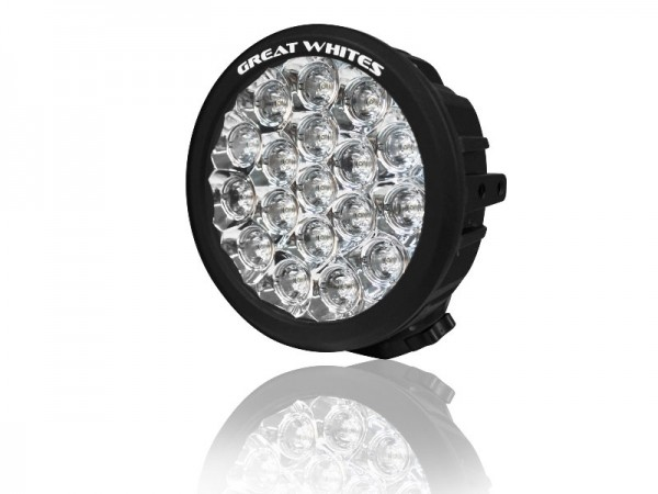 Great White - 18 LED Round Driving Light - Single light