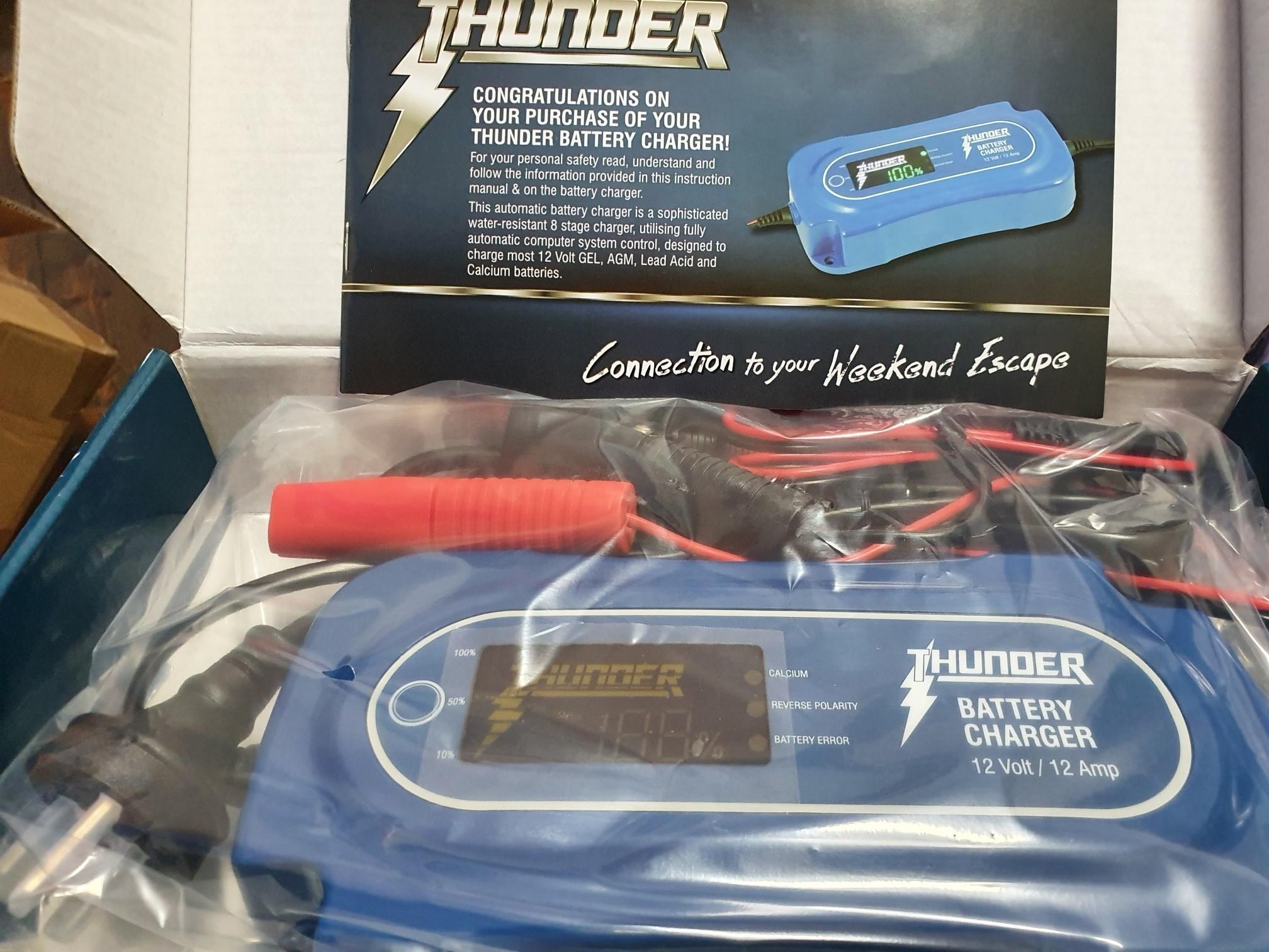 THUNDER 12V 12Amp 8 Stage Battery Charger THUNDER TDR02112 12V 12Amp 8 Stage Battery Charger