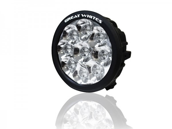 Great White - 9 LED Round Driving Light - Single light