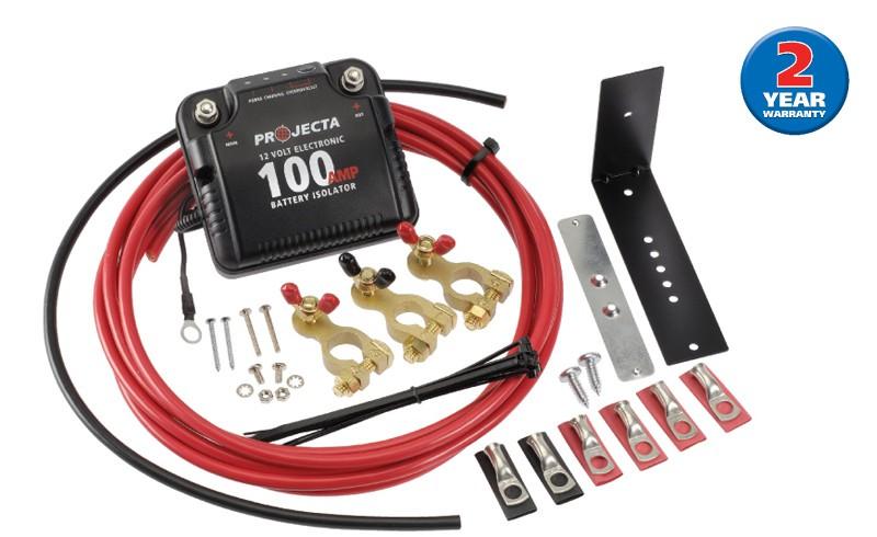 12V 100A Electronic Isolator Kit Projecta DBC100K