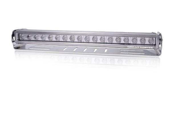 Great White - 18 LED Bar Driving Light Chrome